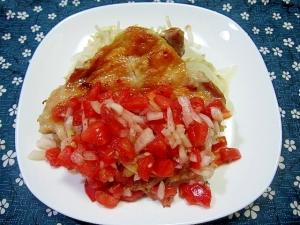 チキンのグリル トマトサルサ添え