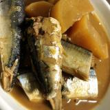 秋刀魚と大根の味噌煮