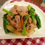 パッとおいしい❤豚肉とほうれん草の炒め物