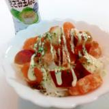 玉ドレ/マヨで キャベツと蜜柑と林檎のサラダ