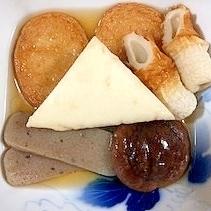 さつま揚げ、こんにゃく、椎茸、はんぺんの煮物