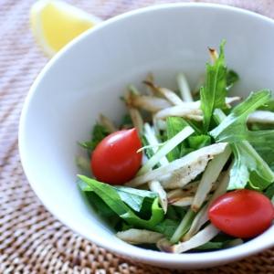 細切りごぼうとシャキシャキ水菜のサラダ