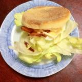 レタスたっぷり☆茹で卵とチャーシューのマフィン