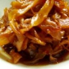 生姜のべっこう煮で箸休め