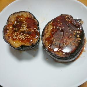 ごまと焼肉のたれの茄子焼き