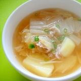 白菜とじゃがいもの和風スープ