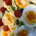 レタスとゆで卵とブロッコリーの爽やかサラダ