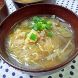 生姜でポカポカ!豚ひき肉の春雨玉子スープ