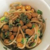 納豆の和風焼き蕎麦
