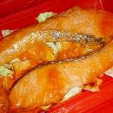 シリコンスチーマーで!鮭の味噌マヨケチャ漬け蒸し