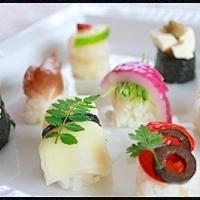 パーティーに♪ヘルシー★カラフル野菜の握り寿司♪