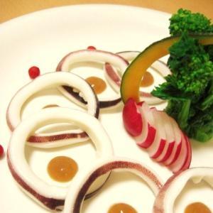 イカと菜花の柚子味噌添え♪ 簡単なのに懐石風♬