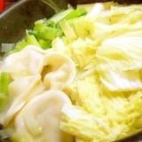 W昆布だしde❤白菜お葱の餃子鍋❤