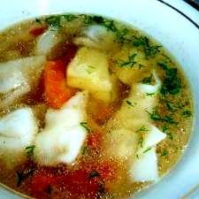 洋風餃子スープ