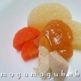 大根と鶏ささみの辛子味噌