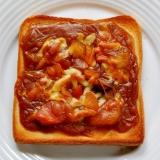 カレー(福神漬け付)トースト