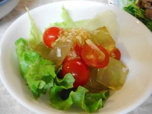アロエとプチトマトのサラダ