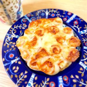 フライパンで焼くミニちぎりパン☆ハムチーズ編
