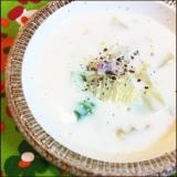 P's亭*白菜とベーコンの豆乳スープ