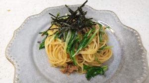 ツナと水菜の和風スパゲッティ