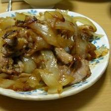 豚肉とタマネギの炒め物