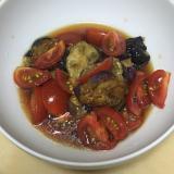 お酢でサッパリ☆ミニトマトとなすの和え物