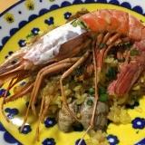 海鮮たっぷり炊飯器でパエリア