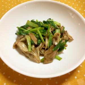 5分でできる!小松菜と舞茸のオイスターソース炒め♪