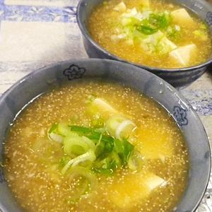 たらこ豆腐の簡単スープ