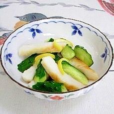 笹かまぼこと胡瓜の梅酢和え~♫