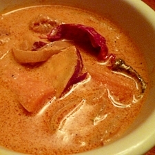レンジで時短Ⅱ☆さつま芋と鶏肉のタイ風スープカレー