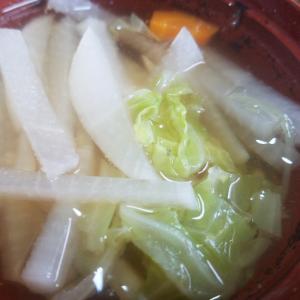 大根と人参とキャベツの和風スープ