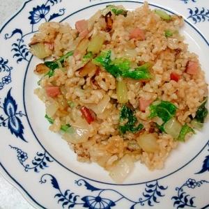 白菜玄米チャーハン 味付けはポン酢!