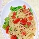 トマトとブロッコリーの冷たいパスタ