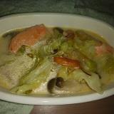 塩鮭とキャベツのクリーム煮