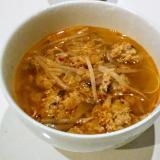 余った餃子のタネで!ピリ辛中華スープ☆