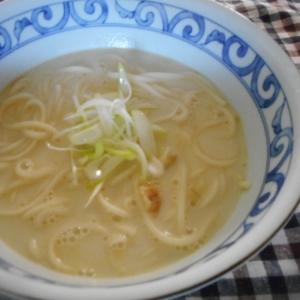 干しエビの豆乳スープうどん