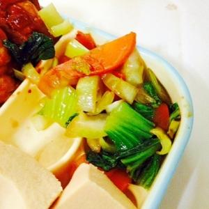 青梗菜とにんじんの炒め物