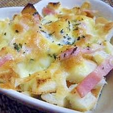 トースターで3分!簡単朝食☆パン耳のチーズ焼き^^