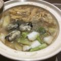大根おろしと牡蠣鍋