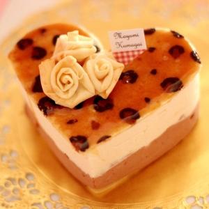本格!豹柄ハートのチョコレート菓子【サンマルク】