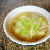 キャベツとそうめんのスープ