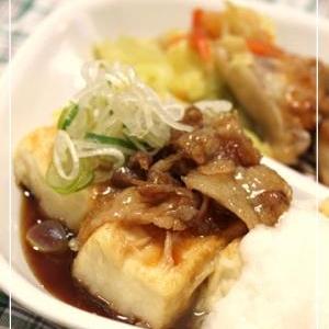 ●豆腐ステーキ● 肉豆腐風でご飯もすすんじゃう★