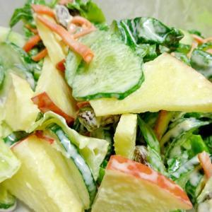 ■10分で..レーズンりんごサラダ
