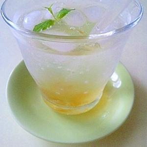 柚子マーマソーダ♪2層でお洒落に涼しげ夏ドリンク☆