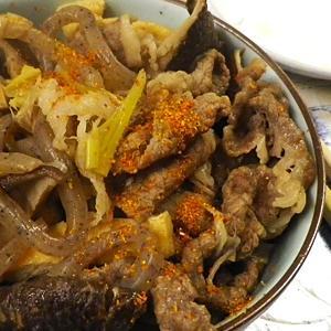 つきこん牛椎茸あげの煮物