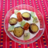 薩摩芋とヨーグルト