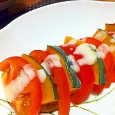 トマトとかぼちゃの塩麹サラダ