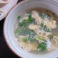 卵と小松菜のスープ