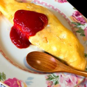 基本のオムライス!手間掛けず、卵少なく簡単に調理!
